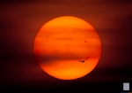 Transit of Venus, Sunset.