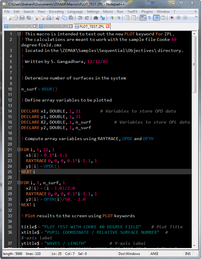ZPL Macro syntax highlighting using Notepad++ | Indranil's world