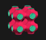Schwarz P: cos(x) + cos(y) + cos(z) = 0
